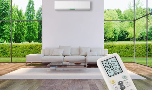 house with clean indoor air thermostat